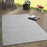 In- & Outdoor Flachgewebe Teppich Terrassen Teppiche Mit Farbverlauf In Grau, Grösse:80x200 cm