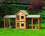 Kleintiervilla Maxi mit Erweiterungsstall und 2 Ausläufen Hasenstall