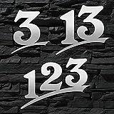 Hausnummer Edelstahl Sonderanfertigung ( 2-stellig / 16cm Ziffernhöhe ) - 16cm 20cm 30cm - ORIGINAL...