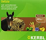 Kerbl 322709 Delizia Leck- und Knabberstein aus Getreide