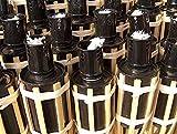 iapyx 16x Gartenfackel Bambusfackeln Party Öllampen Fackeln inkl. Dochte (W42)