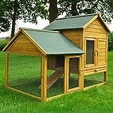Zooprimus Kaninchenstall 07 Hasenkäfig - HASENFARM - Stall für Außenbereich (für Kleintiere:...