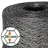 Mammut® Drahtzaun / Sechskant-Geflecht | Maschenweite 25 mm | Gartenzaun | Länge und Höhe...