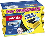 Vileda Glitzi Plus Topfreiniger zur gründlichen, hygienischen und saugstarken Reinigung, 9er...