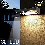 Solarleuchten für Außen, Soft Digits 2 Pack mit 30 LED Solar-Bewegungsmelder Licht, Drahtlosen...