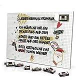 Adventskalender 'Lieber Weihnachtsmann' - mit Schokolade - Design Weihnachtskalender,...