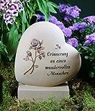 Grabherz mit Rose 'In Erinnerung an...', Resin