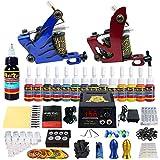Solong Tattoo® Profi Komplett Tattoomaschine Set 2 Tattoo Maschine Guns 14 Farben/Inks Tinte Nadel...
