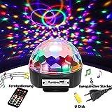 Discokugel,SOLMORE LED Partylicht Disco Lichteffekte mit Fernbedienung Discolicht Projektor...