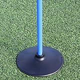 Scheibenfuß-Slalomset für Fußballtraining (blau)