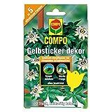 COMPO BIO Gelbsticker dekor, Dekorative Leimfalle, Inklusive Holzstäbe und Aufhänger,...