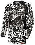 O´Neal Motocross Shirt Jersey Trikot Wild schwarz weiß Größe L