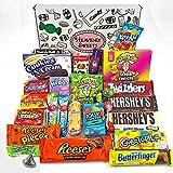 Großer Amerikanische Süßigkeiten Geschenkkorb | Süßigkeiten aus den USA | Auswahl beinhaltet...