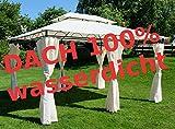 Eleganter Gartenpavillon Pavillon 3x4 Meter, Dach 100% wasserdicht UV30+, mit 6 Vorhängen Modell:...