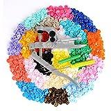 LIHAO SNAPS Zange mit 300 Set T5 Druckknöpfe in 20 Farben Nähfrei Buttons für DIY Basteln