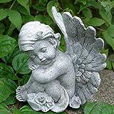 Kleine Engel Figur sitzend träumend. Höhe 10cm. 1 Stück