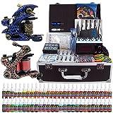 Solong Tattoo® Profi Komplett Tattoomaschine Set 2 Tattoo Maschine Guns 54 Farben/Inks Tinte Nadel...