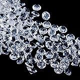 Faburo 3000 Stück Deko Diamanten Hochzeit Streudeko 6mm ,Transparent Kristall Dekosteine Tischdeko...