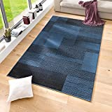 Velours Design Teppich 'Marble' | Kurzflor grau, taupe, braun, cacao, Farbe:Blau, Größe:120x170 cm