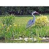 Teichfigur Fischreiher 72 cm Skulptur Figur Garten Dekoration Vogelfigur