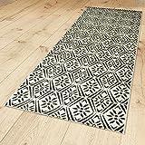 Outdoor-Teppich 'Caro Contrast' 200 x 80 cm Kunststoff für Innen und Außen