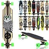 Terena Longboard 105x24 Long Board 'The Owl' Skateboard Surfboard komplett medium Flex Longboards...