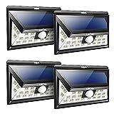 Litom Solarleuchten, 24 LED Wandleuchte Außen, Solar Betriebene Außenleuchte, Wasserdicht 3 Modi...