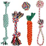 Hundespielzeug, Lictin 5pcs Kauspielzeug Hund Spielzeug Set Baumwollknoten Spielset Seil Spielzeug...