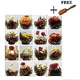 HuntGold 10ps eine Packung Zufalls chinesisches grünes Künstlerische Blooming Blühende Blumen Tee...