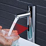 Automatischer Elektronik Wasserhahn Infrarot Sensor Waschtischarmatur Vollautomatik IR Badarmatur...