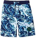 RED WAGON Jungen Badeshorts Aop Water Border Short, Blau (Blue), 110 (Herstellergröße: 5 Jahre)