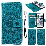iPhone 6 Hülle, Pincenti PU Leder Flip Wallet Cover in Book Style Stand Case Card Slot Leder Tasche...