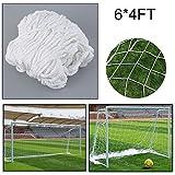 HappGrand Fußballtornetz Ballfangnetz Fußballnetz Fußball Netz Tornetz 6 x 4 ft / 8 x 6 ft / 12 x...