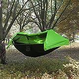 Camping Hängematte mit Moskitonetz und Regenschutz leicht Schlafsack Parachute Tragbare Lanyard...
