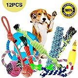 Parner Hundespielzeug, 12pcs Kauspielzeug Interaktives Spielzeug Baumwollknoten Spielset Seil...