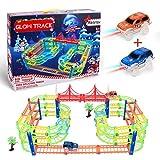 Glow Twister Tracks Autorennbahn Twister Truck Magic Glow Tracks E-Auto Konstruktionsspielzeug...