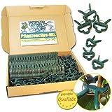 Pflanzenclips 100 Stück stabile Clips Pflanzenklammern für kleine & große Triebe Spaliere...