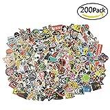 Willingood Aufkleber 200 Stück Wasserdicht Vinyl Stickers Graffiti Style Decals für Auto...