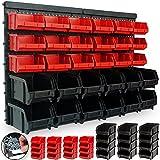 Deuba® Wandregal + Stapelboxen ✔ 32 tlg Box ✔ extra starke Wandplatten ✔ Regal erweiterbar...