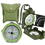 Armee BW Marschkompass Professioneller Bundeswehr Militär Kompass Peilkompass Taschenkompass mit...