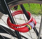 Land-Haus-Shop® Stahlseil Zahlenschloss 65 cm, Fahrradschloss PVC ummantelt Fahrradzahlenschloss,...