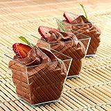 Tiny Temptations Dessertbecher/Dessertschale aus Hartplastik, quadratisch, 50 ml, Hellgrün, 40...
