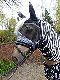 Unsere meistverkaufte Zebra Fliegenmaske Fliegenschutz Gesichtsteil (XL)