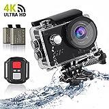 Action Kamera Actioncam sports cam, 4K WIFI Action cam 1080P/60fps 20MP, 2.4 G Fernbedienung, 2...