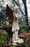 Große Gartenfigur, magische Fee, Steineffekt, Engelsfigur, Statue