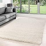 Hochflor Shaggy Teppiche für Wohnzimmer, Esszimmer, Gästezimmer, Jugendzimmer, Babyzimmer mit 5 cm...