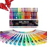 Totoose Gelschreiber Gelstifte Set 144 Stück Ausreichende Farbauswahle für die Kinder oder...