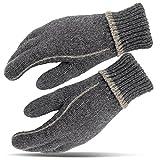 Thinsulate Handschuhe Wollhandschuhe Strickhandschuhe Grau/Grau L/XL