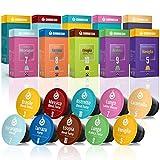 Gourmesso Testbox - 100 Nespresso kompatible Kaffeekapseln - Fairtrade