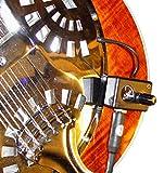 DOBRO HOUND DOG ROUND NECK Resonatorgitarre PICKUP mit flexiblen MICRO- Schwanenhals von Myers...